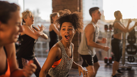 A Nielsen study of more than 3000 participants of group fitness classes around the world highlighted that more than 85 percent of class members visit their facility twice a week specifically to engage in group classes Photo courtesy Les Mills