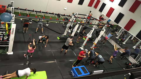 The 1600squarefoot Raider Escape Room features functional training equipment from Escape Fitness and Marathon Fitness Photo courtesy Texas Tech University