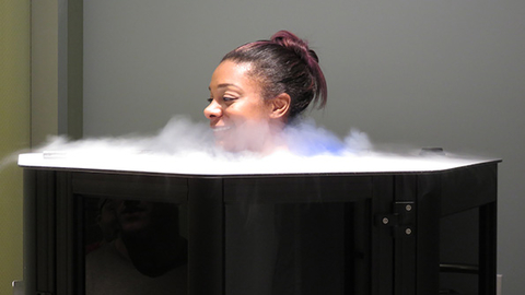 Drive495 in New York City is one health club that offers cryotherapy ndash the practice of applying extreme cold to the body to aid physical recovery ndash to its members and nonmembers as a form of ancillary revenue Photo courtesy Drive 495