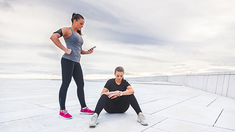 Onethird of people who use activity trackers abandon them within six months but when a fitness professional helps them understand and use the data from their trackers it extends the use of the trackersand may help increase retention for the health club Photo by Thinkstock