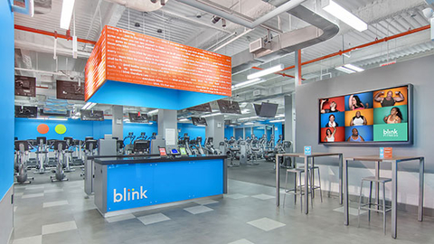 Blink Fitness is aiming to have open 300 health clubs within five years The new opening in Los Angeles will be the brand39s first on the West Coast Photo courtesy Blink Fitness