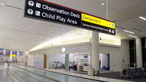 ROAM Fitness opened in late January at the BWI Airport in Baltimore It39s the first of several gyms the company plans to open in airports Photo courtesy ROAM Fitness