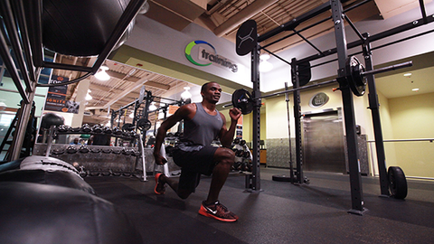 Team USA Athlete Lex Gillette exercises inside a 24 Hour Fitness facility Since 2004 the fitness company has partnered with US Olympic teams in developing High Performance Training Centers in Olympic host cities Photo courtesy 24 Hour Fitness