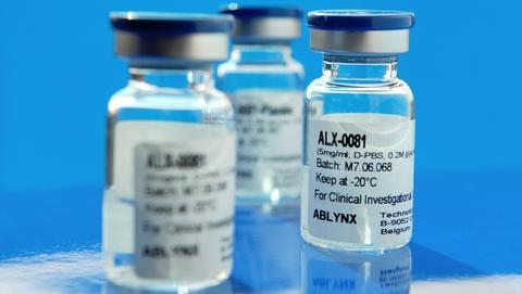 Ablynx' caplacizumab vials