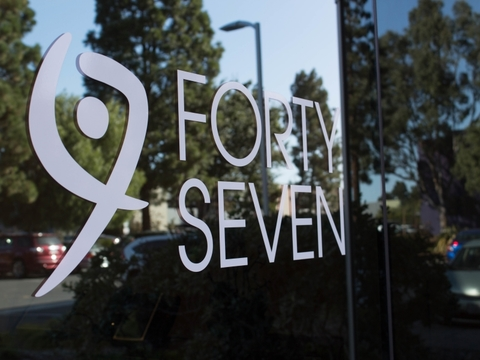 Forty Seven logo on window