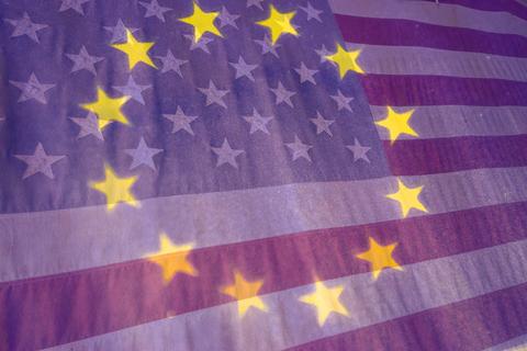 EU USA flags