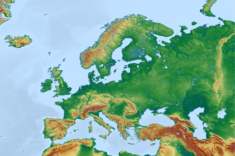 Map of Europe