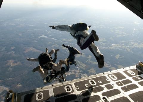parachute jump