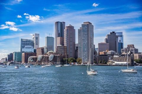 Boston skyline from harbor