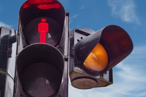 traffic caution light