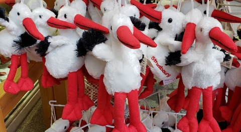 Stork ornaments Christmas time Strasbourg France AmaWaterways Editorial use Only Photo by Susan J Young