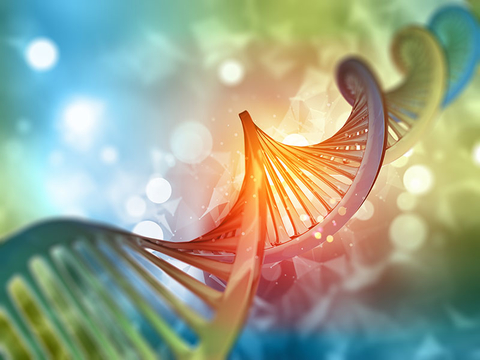3D medical background with DNA strand
