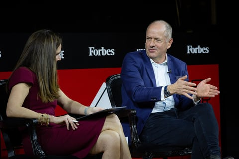 Andrew Witty interviewed during Forbes Healthcare Summit conference