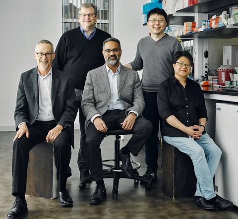Sherlock Biosciences cofounders sitting in a lab