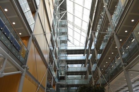 The atrium of the Wellcome Trust's headquarters