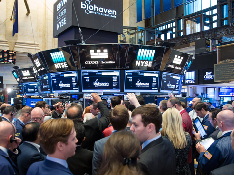Biohaven on NYSE screens