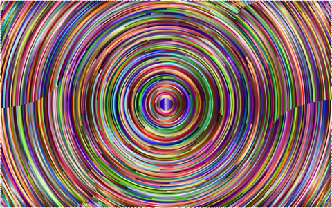 circular psychedelic patterns of many colors