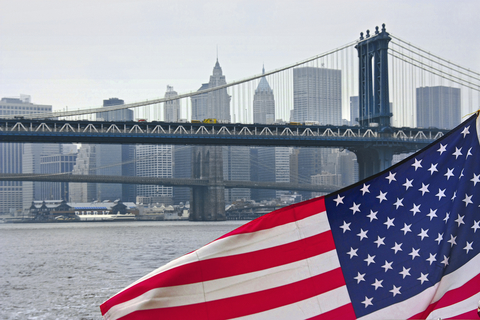 USA flag in New York