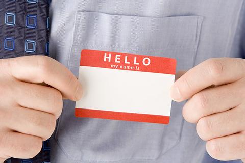 Nametag sticker