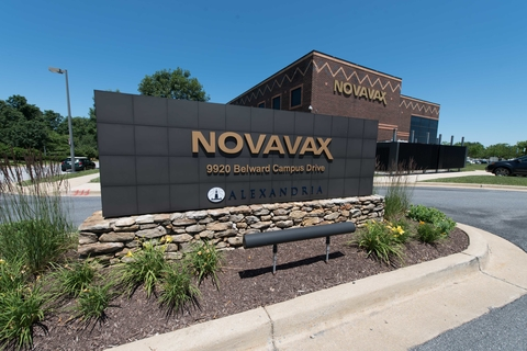 Novavax sign