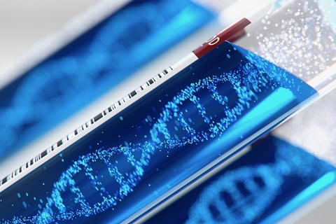 DNA helix forming inside a test tube