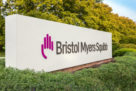 Bristol Myers Squibb new sign outside