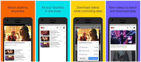 YouTube Go, the company's offline viewing app, expands to