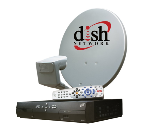 Dish Network dish and set-top