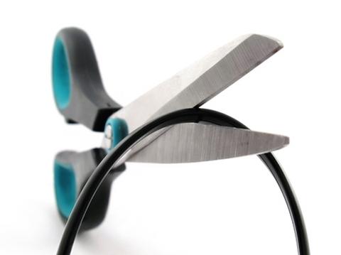 Scissors cutting cord