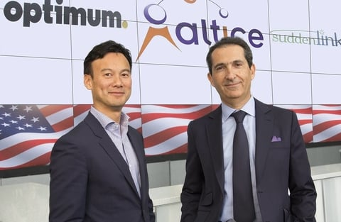 Altice CEO Dexter Goei and founder Patrick Drahi
