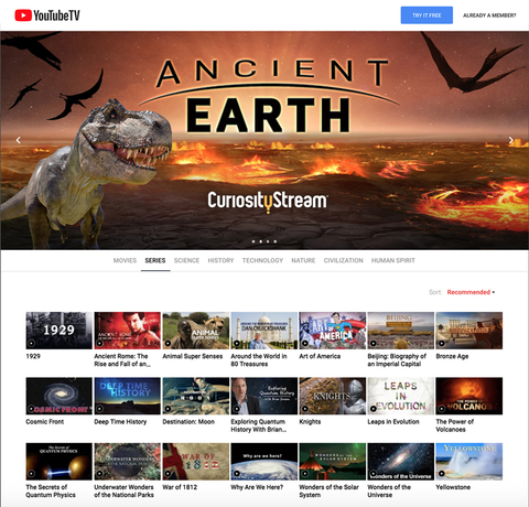 CuriosityStream comes to YouTube as $3 add-on | FierceVideo