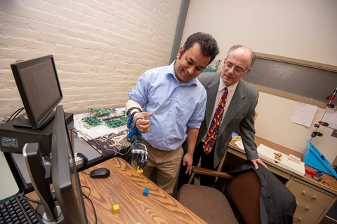 A research team led by Worcester Polytechnic Institute (WPI) professor Ted Clancy has developed wireless sensors to improve the performance of prosthetics for individuals with upper limb amputations.