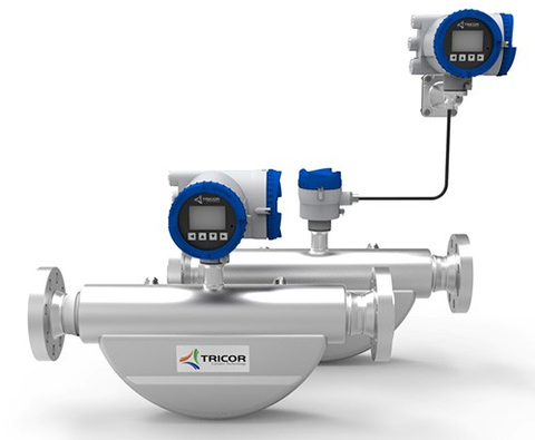 The TCMQ 6400 mass flowmeter is designed for a ½ in. line and achieves mass flow rates up to 6400 kg/h.