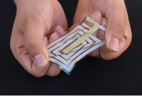 Stanford University wearable stick-on sensor