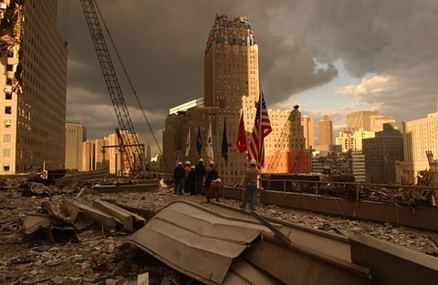 aftermath of Sept 11, 2001 terror attacks