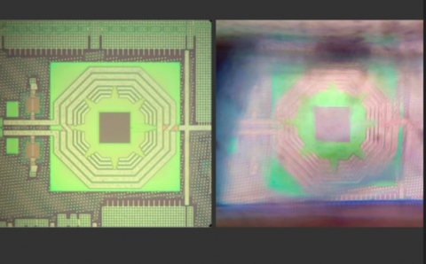Quantum sensor resides on silicon chip