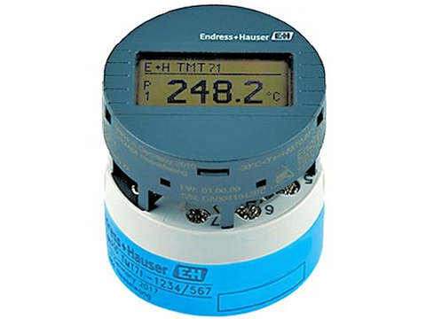 Endress+Hauser's iTEMP TMT71 and TMT72 single-channel temperature transmitters are available with an integrated Bluetooth interface that enables users to wirelessly display measured values and perform configuration tasks.