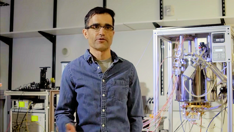 NIST researcher Varrun Verma explains how a new NISTcamera, made of nanometer-scale wires, could efficiently capture light from atmospheres of extrasolar planets that possibly harbor life.