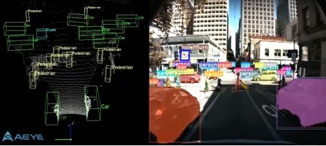 Perception software runs inside autonomous vehicle sensor