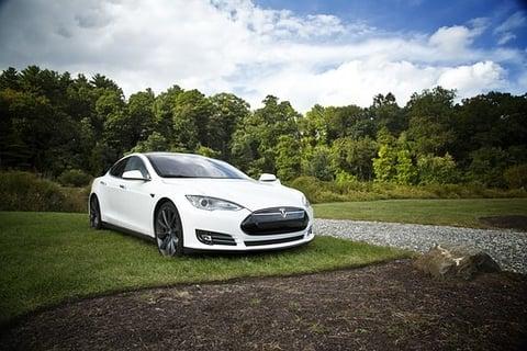 Tesla Model S electric vehicle Alt text/Description