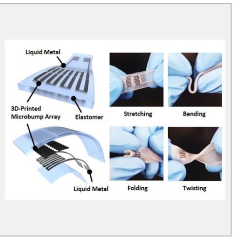 3D printing helps form wearable metal pressure sensor