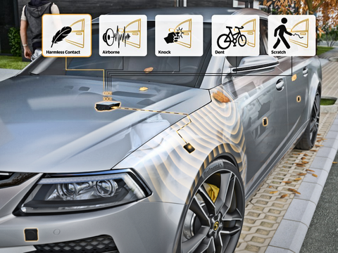 Continental's CoSSy sensing system can differentiate between airborne sound, knocks, dents, and scratches for multi-purpose applications.