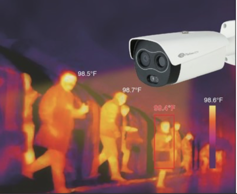 Platinum CCTV unveils camera that reads body temps and provides security