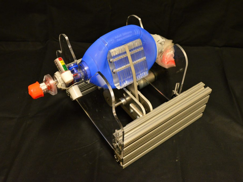 Working with doctors, a team from MIT has added a mechanical arm to an Ambu-bag, eliminating the need for a manual operator. The goal: a low-cost emergency ventilator.
