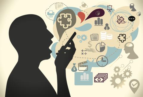 Voice user interfaces man talking on phone