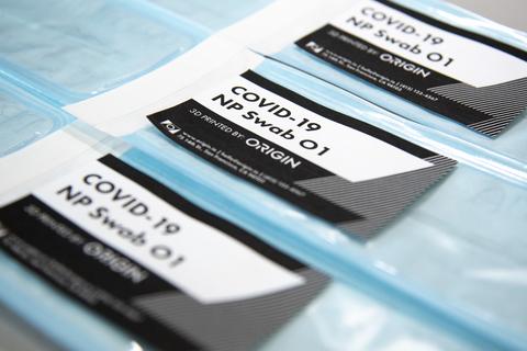 Medical test swab package