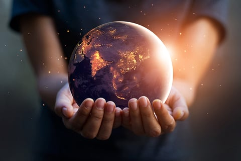 Holding world in hands / strategy