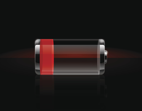 Battery with low charge