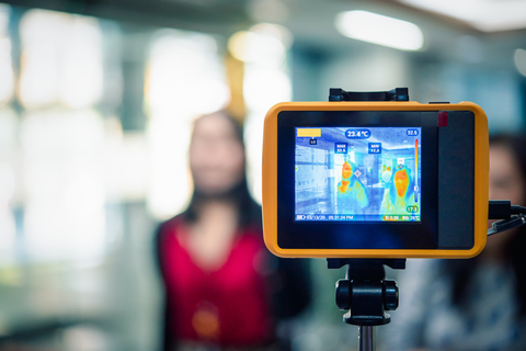 Thermal camera with image