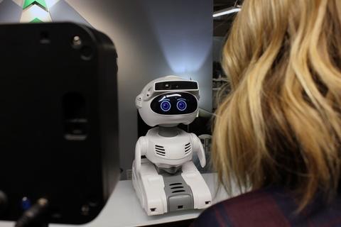 Robotic temperature screen device Misty Robotics